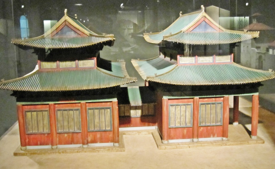 Click photo to download. Caption: A model of a Kaifeng synagogue. Credit: Wikimedia Commons.