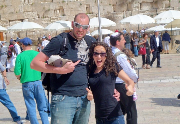 Click photo to download. Caption: Maggy Vetterling and her husband Kurt at the Western Wall. Credit: Courtesy Maggy Vetterling. Why Israel?