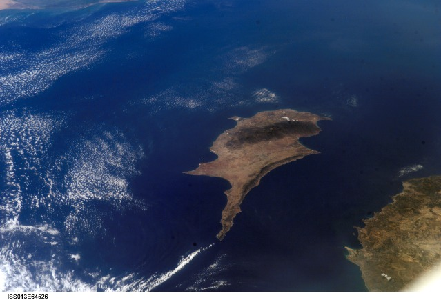Click photo to download. Caption: The island of Cyprus, where Israelis seeking a civil marriage option not offered by the Jewish state often travel. Credit: NASA.
