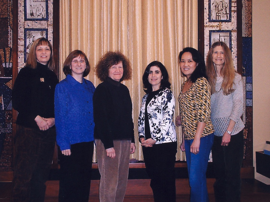 Click photo to download. Caption: Members of the the adult bat mitzvah classes at Temple Reyim in Newton, Mass. Credit: Courtesy Carol Stollar.