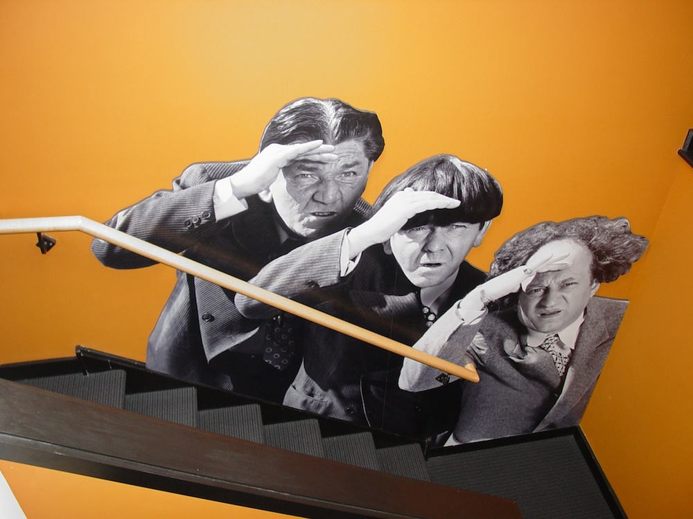 "Click photo to download. Caption: The Three Stooges are ubiquitous at ""The Stoogeum"" memorabilia museum in Ambler, Pa. Credit: Gary Lassin."