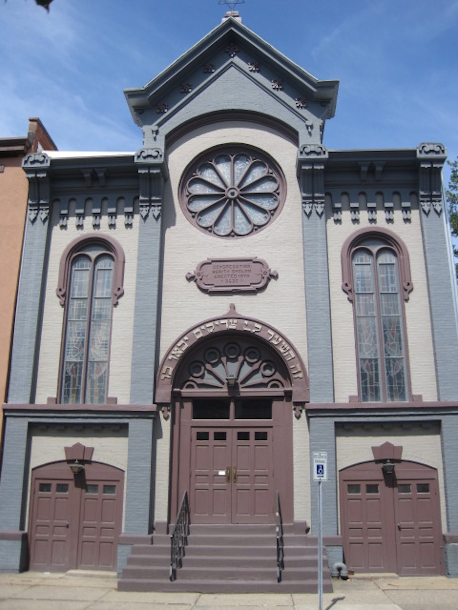 Click photo to download. Caption: Congregation Berith Sholom of Troy, NY, the Empire State's oldest continually occupied synagogue. Credit: Paul Foer.