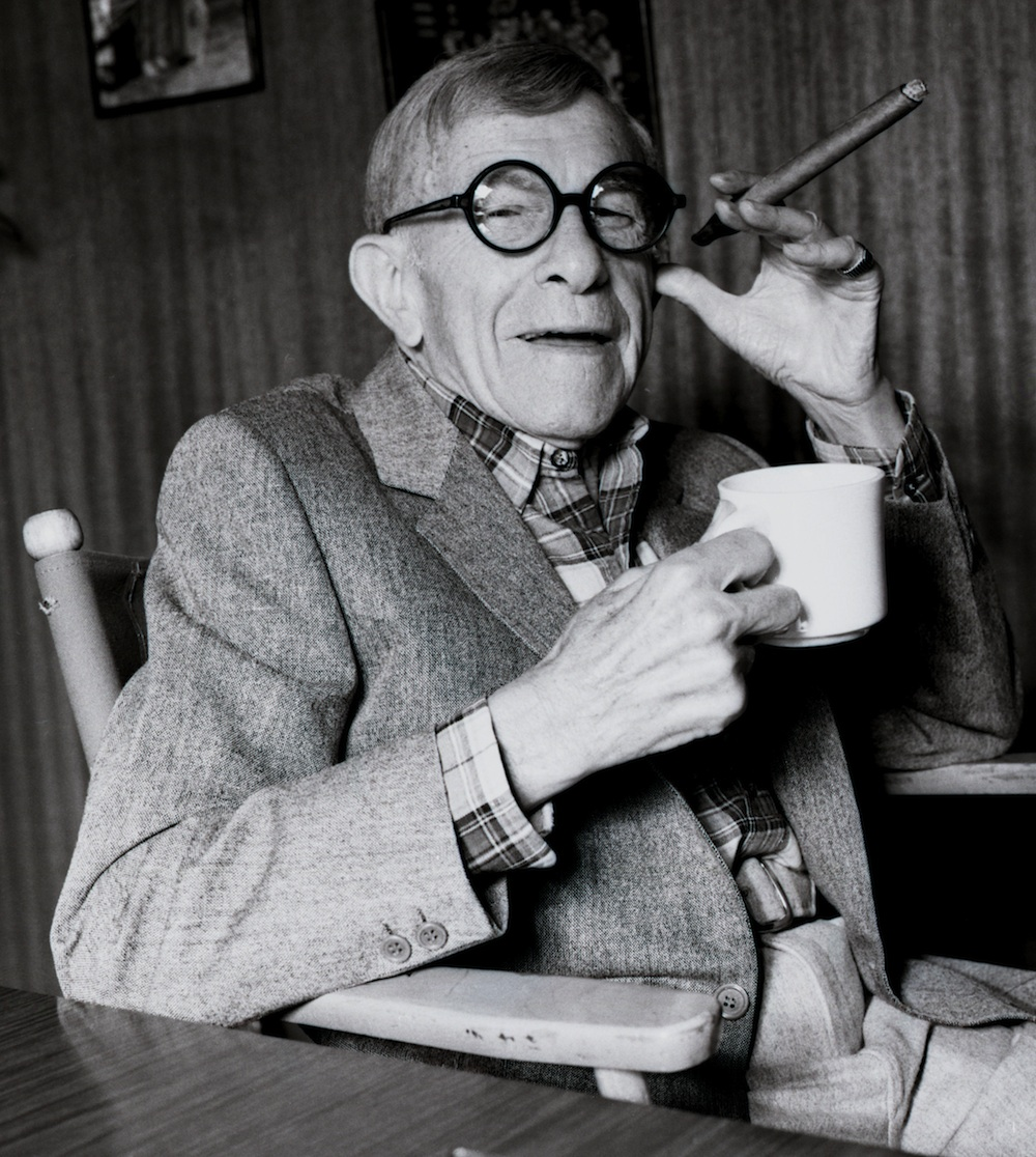 Click photo to download. Caption: George Burns. Credit: Allan Warren.
