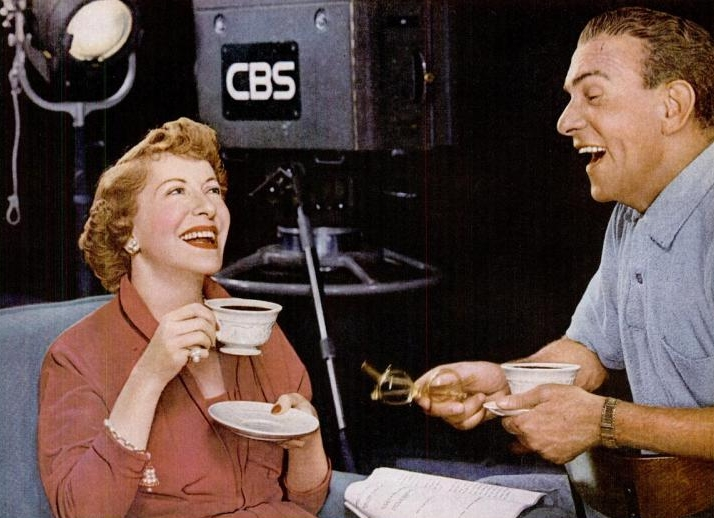 Click photo to download. Caption: Gracie Allen and George Burns. Credit: Pan-American Coffee Bureau/Wikimedia Commons.