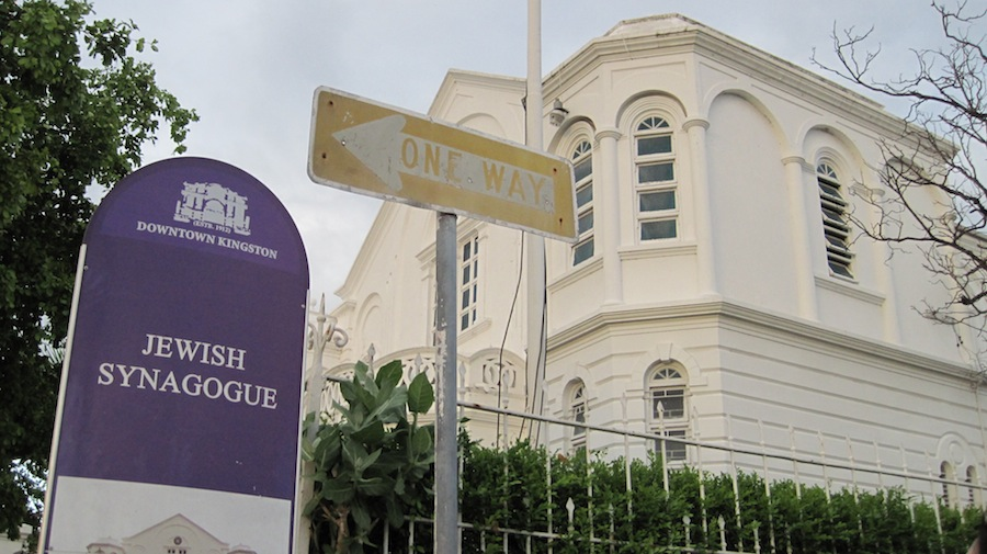 Click photo to download. Caption: Shaa're Shalom Synagogue in Kingston, Jamaica. Credit: Paul Foer.
