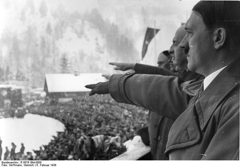Click photo to download. Caption: Hitler at the 1936 Berlin Olympics. Credit: Heinrich Hoffman/German Federal Archive.