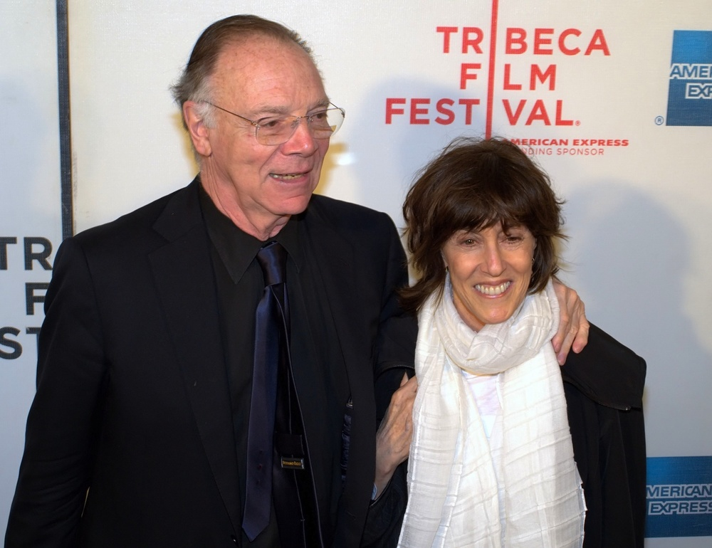 Click photo to download. Caption: Screenwriters Nicholas Pileggi and Nora Ephron at the 2010 Tribeca Film Festival. The Nora Ephron Prize was awarded for the first time in April at the Tribeca festival. Credit: David Shankbone.