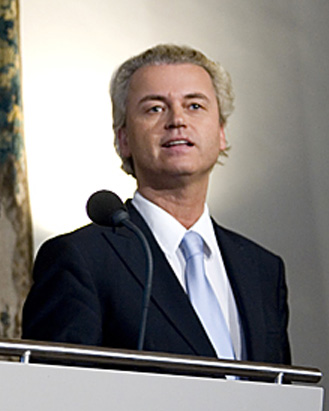 "Dutch politician Geert Wilders (pictured) said in Los Angeles on Sunday that Europeans ""need to follow the example of the Jewish people and re-establish their nation-state"" to counter the growing Islamization of their countries. Credit: Wikimedia Commons."