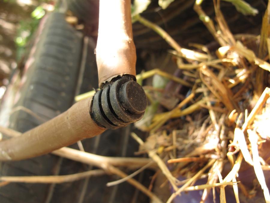 Click photo to download. Caption: Drip irrigation pipeline parts, Shefa Farm, Rishpon, Israel. Credit: Juandev.