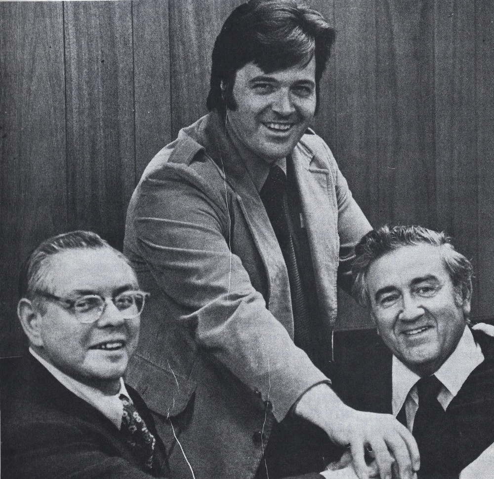 Click photo to download. Caption: From left to right, Joe Shuster, Neal Adams, and Jerry Siegel shortly after their victory over DC Comics, which have Superman creators Shuster and Siegel financial assistance, medical benefits, and credit by name in every Superman comic. Credit: Courtesy of the David S. Wyman Institute for Holocaust Studies.