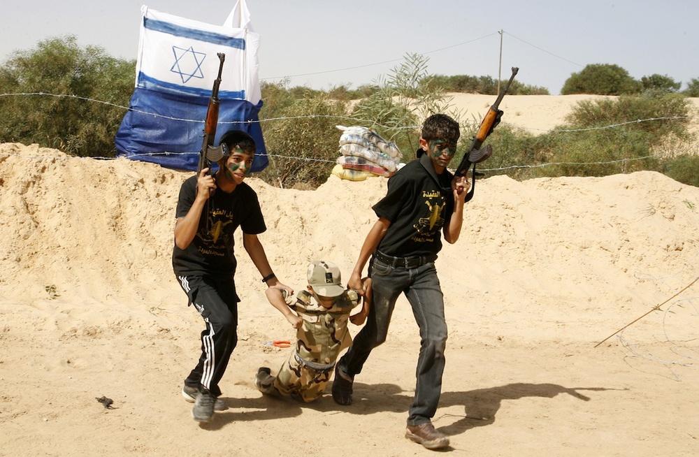 Click photo to download. Caption: Palestinian boys at Islamic Jihad summer camp on June 12 in the Gaza town of Rafah. Credit: Abed Rahim Khatib/Flash 90.