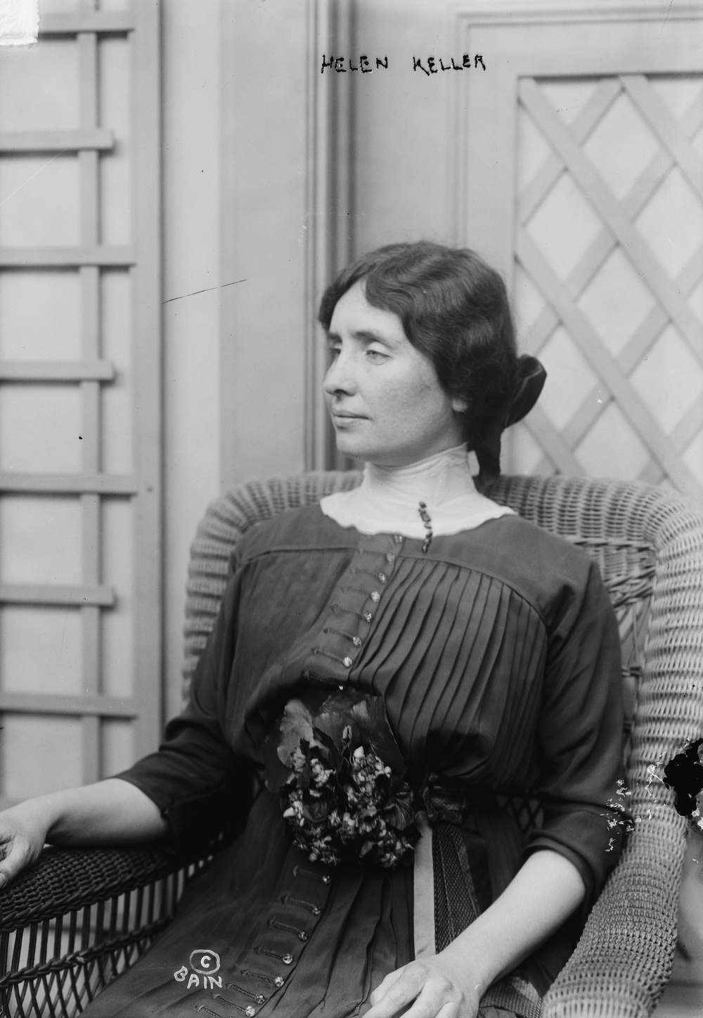 Click photo to download. Caption: Helen Keller. Credit: Bain News Service via Wikimedia Commons.