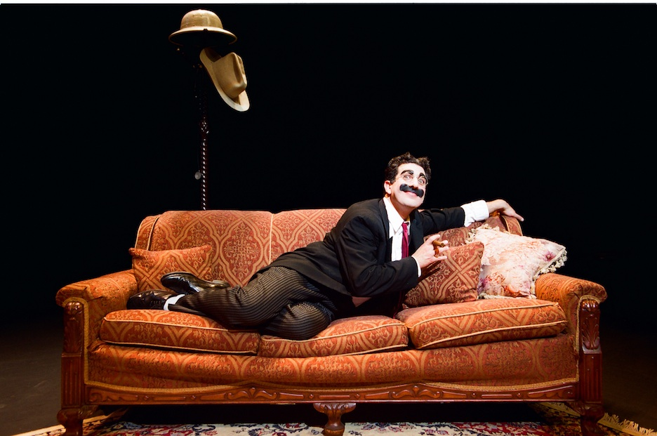 Click photo to download. Caption: Frank Ferrante as Groucho Marx. Credit: Drew Altizer.
