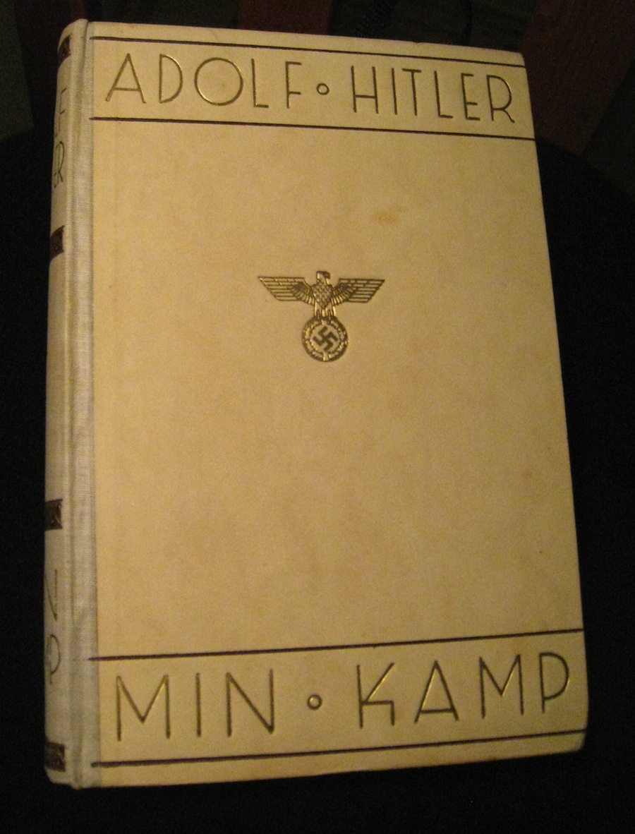 The Norwegian edition of Adolf Hitler's Mein Kampf. Credit: Magnum35 via Wikimedia Commons.