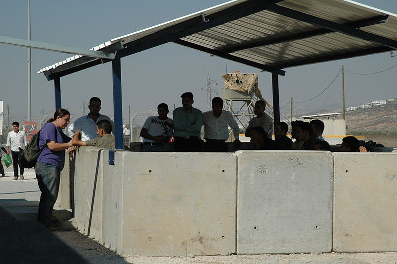 Click photo to download. Caption: An IDF checkpoint in Judea and Samaria. Credit: Wikimedia Commons.