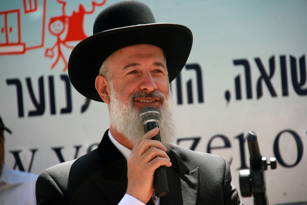 Rabbi Yona Metzger, the Ashkenazi chief rabbi of Israel. Credit: PikiWiki Israel.