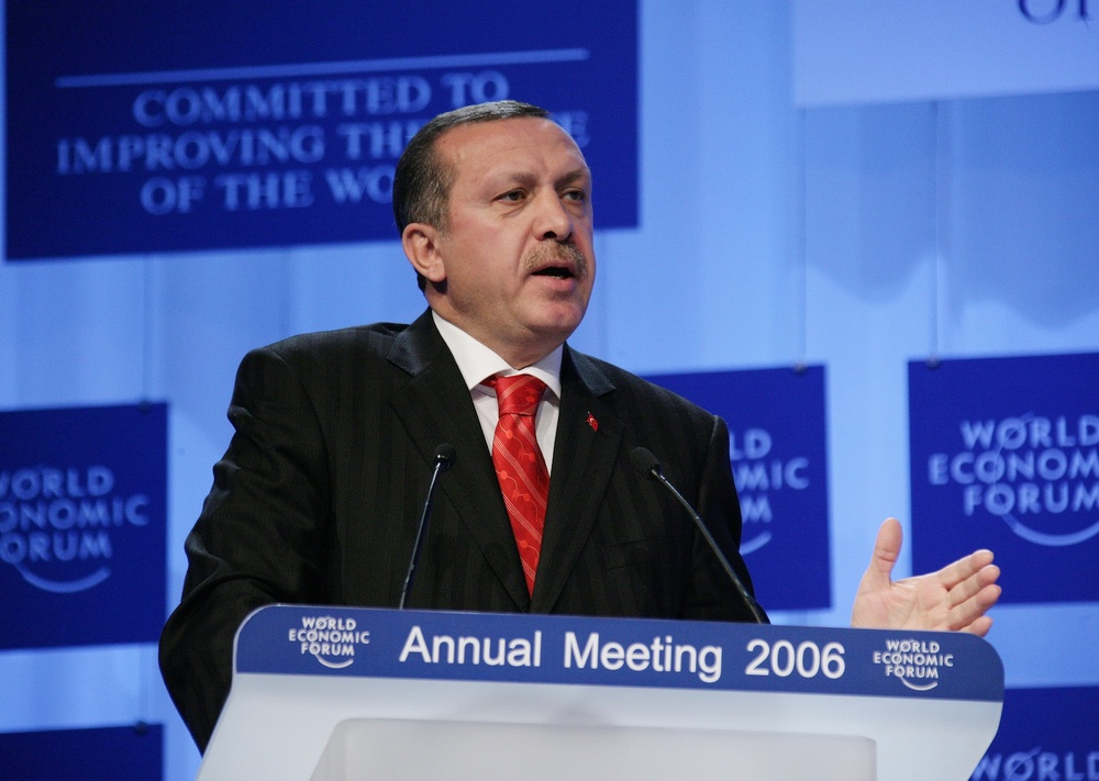 Click photo to download. Caption: Turkish Prime Recept Tayyip Erdogan. Credit: World Economic Forum.