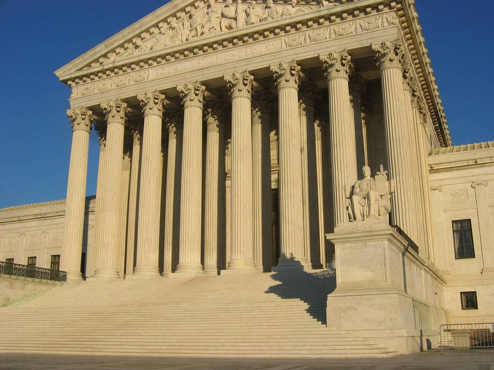 Click photo to download. Caption: The U.S. Supreme Court. Credit: Wikimedia Commons.