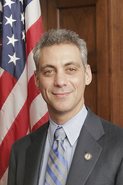 Click photo to download. Caption: Chicago Mayor Rahm Emanuel expressed strong support for the research collaboration in water management between the University of Chicago and Israel's Ben-Gurion University of the Negev. Credit: Wikimedia Commons.