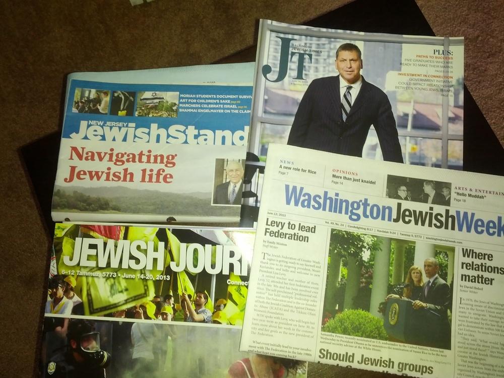 Jewish newspapers. Credit: Sean Savage.