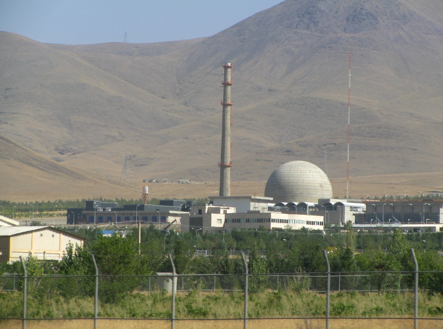 "Click photo to download. Caption: The Arak IR-40 heavy water reactor in Iran. Noah Beck's novel ""The Last Israelis"" imagines Israel's destruction by Iranian nukes. Credit: Nanking2012/Wikimedia Commons."