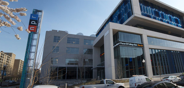 Click photo to download. Caption: National Public Radio (NPR) headquarters in Washington, DC. NPR continues to produce coverage biased against Israel, writes Eric Rozenman. Credit: Steve Behrens.