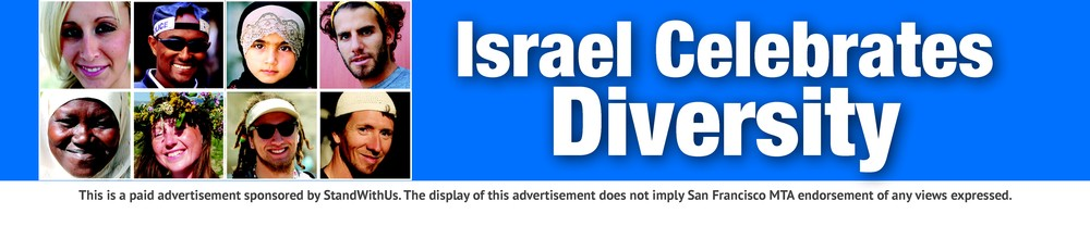 A pro-Israel ad placed on San Francisco's Muni bus system by StandWithUs. Credit: StandWithUs.
