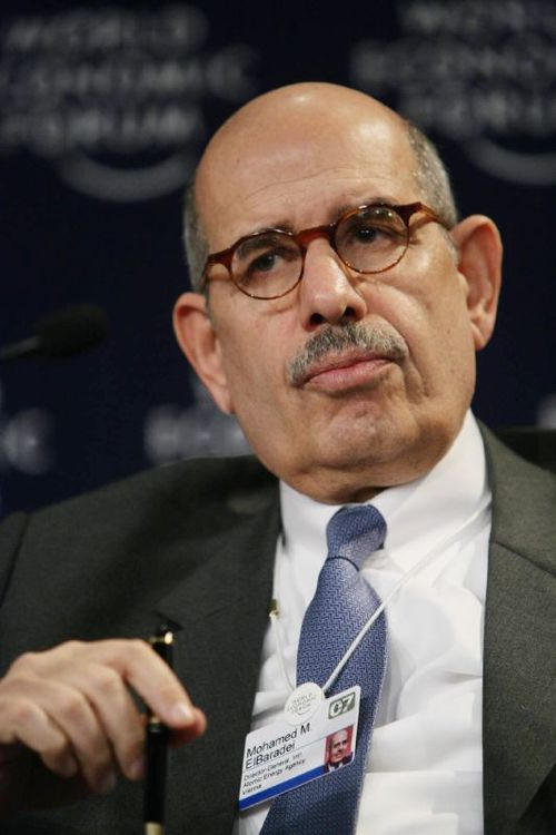 Click photo to download. Caption: Mohamed ElBaradei. Credit: World Economic Forum via Wikimedia Commons.<br />