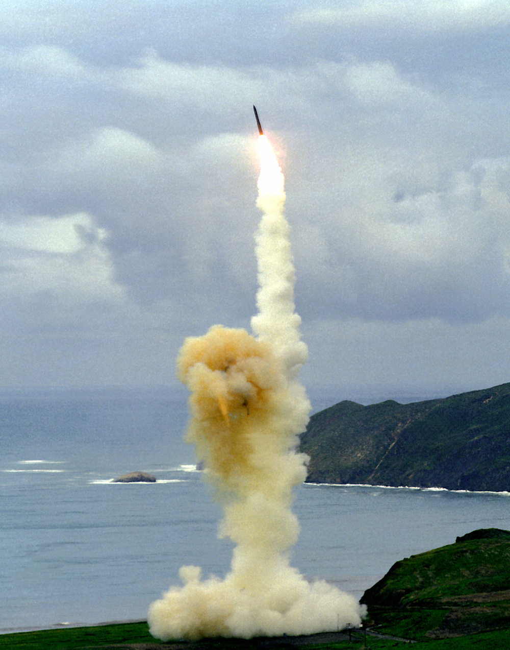 The launching of an intercontinental ballistic missile (ICBM), the Minuteman 3, from Vandenberg Air Force Base in California. Iran's ICBMs could reach the U.S. by 2015, a new intelligence report said. Credit: U.S. Air Force.