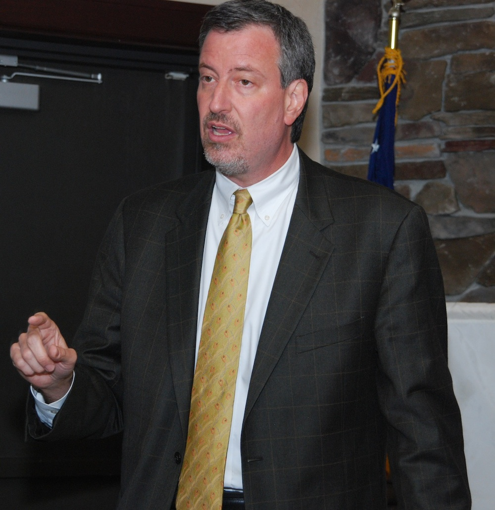 New York City Public Advocate Bill de Blasio, pictured, said on Monday that Saudi Arabian Airlines should be excluded from U.S. airports if it doesn't stop discriminating against Israeli passengers. Credit: Thomas Good via Wikimedia Commons.