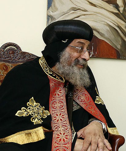 Click photo to download. Caption: The Muslim Brotherhood has blamed Egypt's Coptic Christians and their pope Tawadros II for inciting former president Mohamed Morsi's ouster. Credit: Wikimedia Commons.