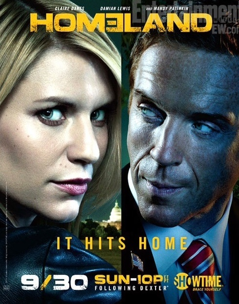 "Click photo to download. Caption: A poster for Gideon Raff's ""Homeland."" Credit: Showtime."