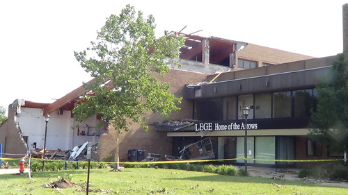 Click photo to download. Caption: An exterior wall was blown away and a portion of the roof was ripped off<br /> of the O'Brien Athletic Center (pictured) at Ursuline College in Pepper Pike, Ohio, over the weekend. Credit: Cleveland Jewish News.</p> <p>   0<br />    0<br />    1<br />    20<br />    96<br />    JNS<br />    2<br />    1<br />    115<br />    14.0 </p> <p>   Normal<br />    0 </p> <p>   false<br />    false<br />    false </p> <p>   EN-US<br />    JA<br />    X-NONE </p> <p>