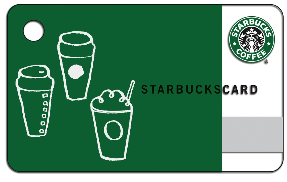 Click photo to download. Caption: A Starbucks card, one of the popular gifts that synagogues are sending to Jewish college students as part of care packages to keep in touch with them. Credit: Starbucks.