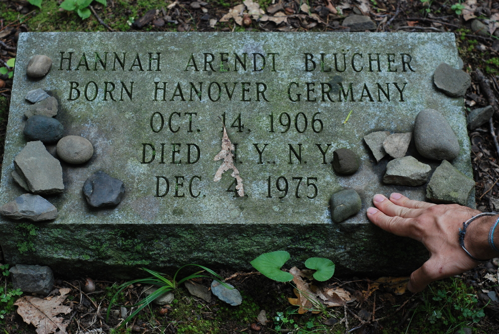Click photo to download. Caption: Hannah Arendt's grave at Bard College in  Annandale-on-Hudson, NY. Credit:  Rasputinfa via Wikimedia Commons.