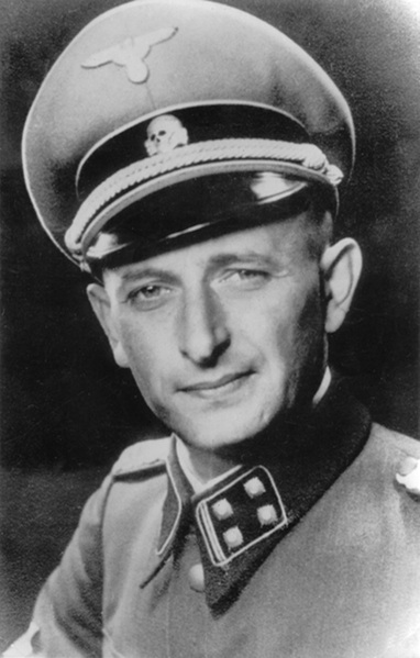 Click photo to download. Caption: Adolf Eichmann. Credit:  Heinrich Hoffmann via Wikimedia Commons.