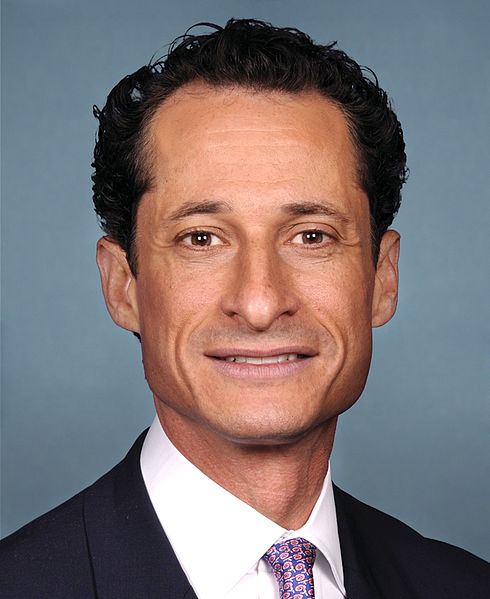 Anthony Weiner. Credit: Wikimedia Commons.