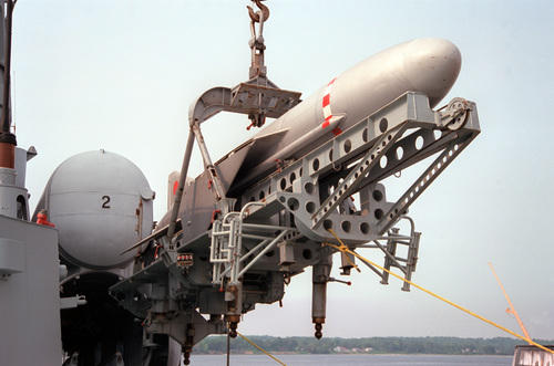 A Russian anti-ship missile. Credit: Don S. Montgomery via Wikimedia Commons.