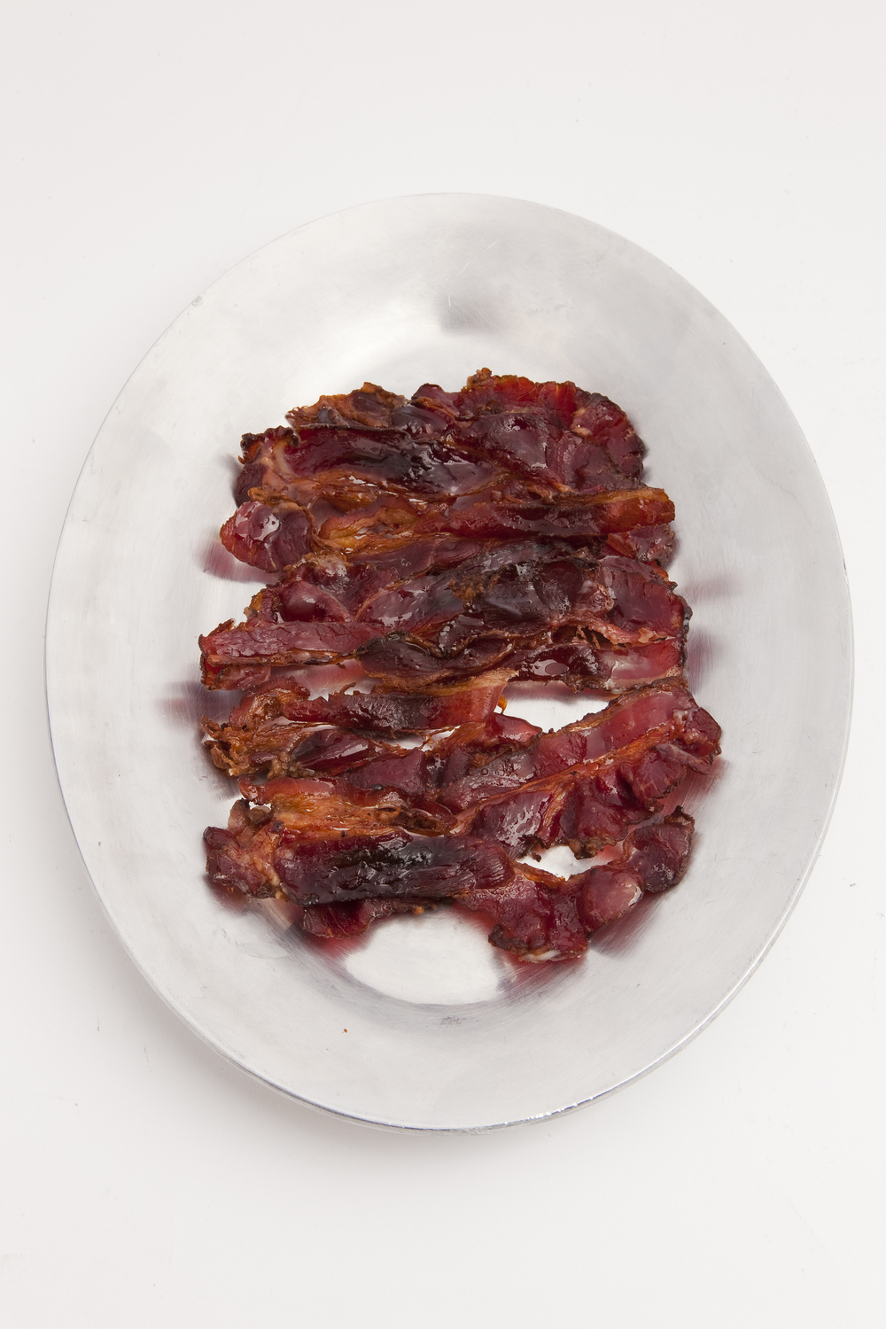 "Click photo to download. Caption: Jack's Gourmet ""facon,"" or fake bacon. Looks like the real thing, doesn't it? Credit: Jack's Gourmet."