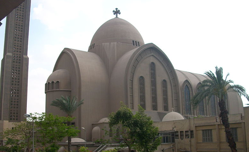 The St. Mark's Coptic Christian cathedral in Cairo, Egypt, which was attacked in April. Credit: Wikimedia Commons.