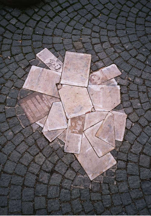 Click photo to download. Caption: A monument to Hans and Sophie Scholl and<br /><br />the Holocaust resistance group White Rose at the University of Munich in<br /><br />Bavaria, Germany. Credit: Gryffindor via Wikimedia Commons.