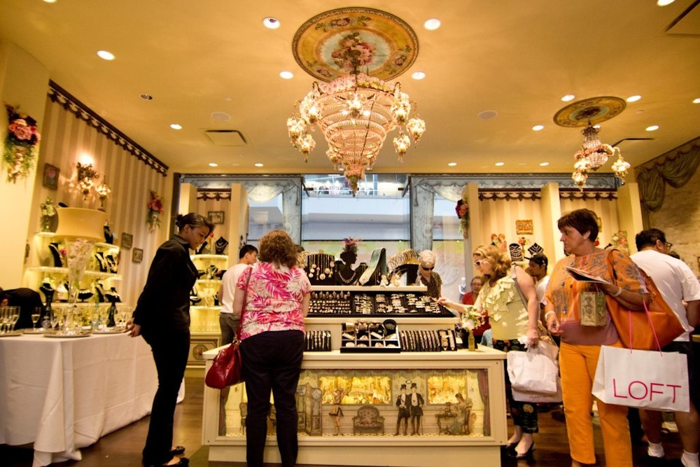 Click photo to download. Caption: Inside the new Michal Negrin store at the Westfield Garden State Plaza in Paramus, NJ. The store opened June 21. Credit: Michal Negrin.