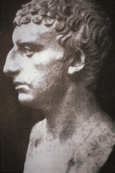 A Roman portrait of the Jewish historian Flavius Josephus 37 - c. 100 CE.<br /><br /><br />Credit: Wikimedia Commons.