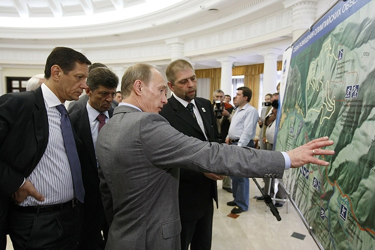 Click photo to download. Caption: Russian President Vladimir Putin chairs a July 2008 meeting on the environmental aspects of the 2014 Winter Olympic Games in Sochi. Some activists are now calling for an Olympic boycott due to Putin's anti-LGBT policies. Credit: premier.gov.ru.