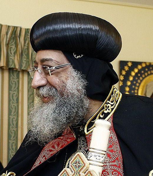Pope Tawadros II, the head of Egypt's Coptic church. Credit: Dragan TATIC via Wikimedia Commons.