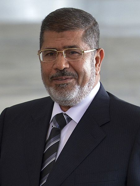Ousted Egyptian President Mohamed Morsi. Concern grew for Egypt Coptic<br /> Christians on Wednesday amid pro-Morsi protests that results in the deaths<br /> of more than 200 people. Pro-Morsi supporters torched three Coptic churches<br /> in central Egypt. Credit: Wilson Dias/ABr.