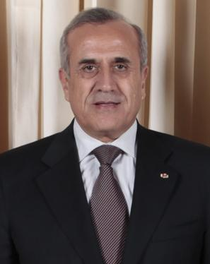 Lebanese President Michael Suleiman, pictured, accused Israel of being<br /> behind Thursday's Beirut bombing. Credit: White House photo by Lawrence<br /> Jackson.