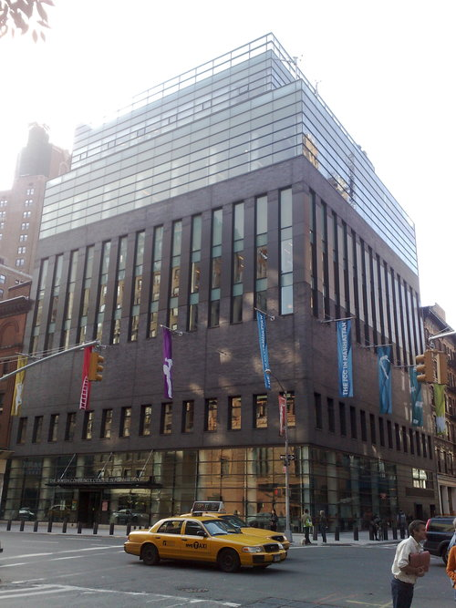 The JCC in Manhattan, whose director of film programs expressed public<br /> support for boycotts of Israel in a Huffington Post op-ed. Credit: Team<br /> Boerum via Wikimedia Commons.