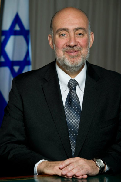 Israeli Ambassador to the U.N. Ron Prosor condemned the Syrian civil war<br /><br /> involvement of Hezbollah. Credit: Wikimedia Commons.