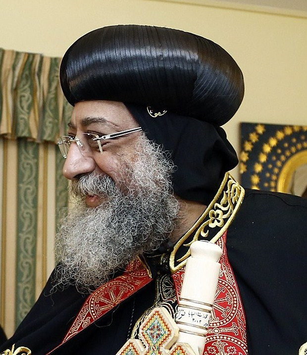 Pope Tawadros II, the leader of Egyptian Coptic Christians, is believed to be in hiding amid unprecedented violence against that community. Credit: Wikimedia Commons.
